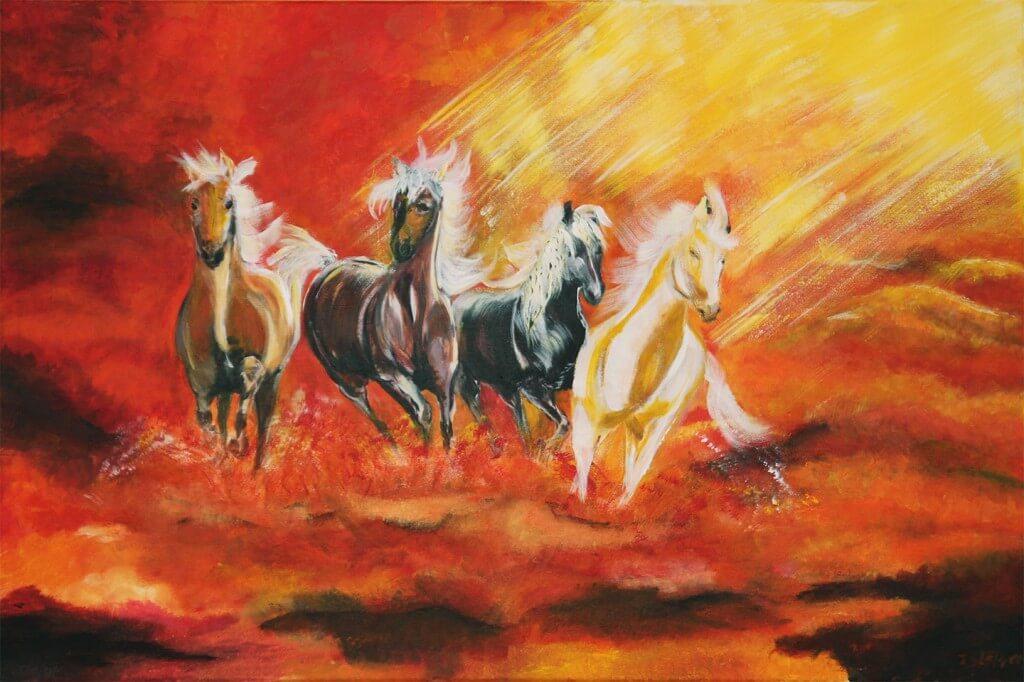 Schilderij - De Hemelse Paarden (December 2011) IP Klepper